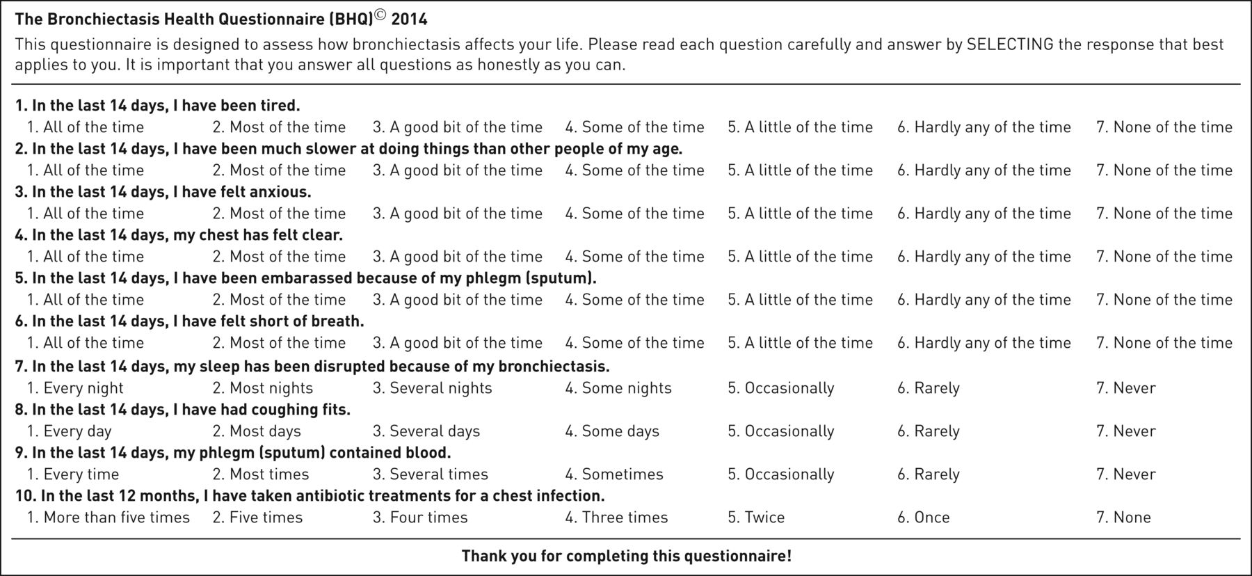 quality of life assessment questionnaire pdf
