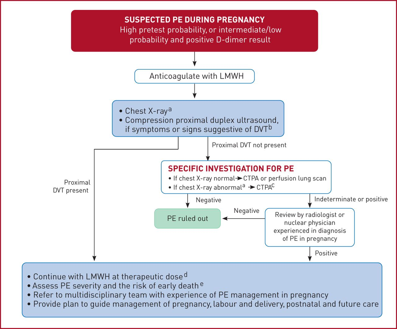 2019 ESC Guidelines for the diagnosis and management of acute pulmonary  embolism developed in collaboration with the European Respiratory Society  (ERS) | European Respiratory Society