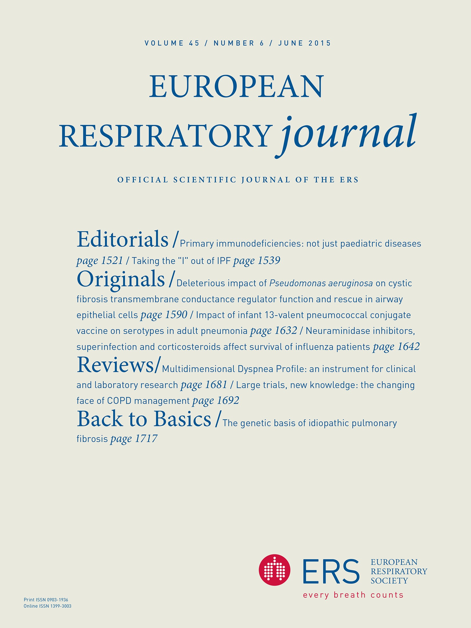 Large trials, new knowledge: the changing face of COPD management |  European Respiratory Society
