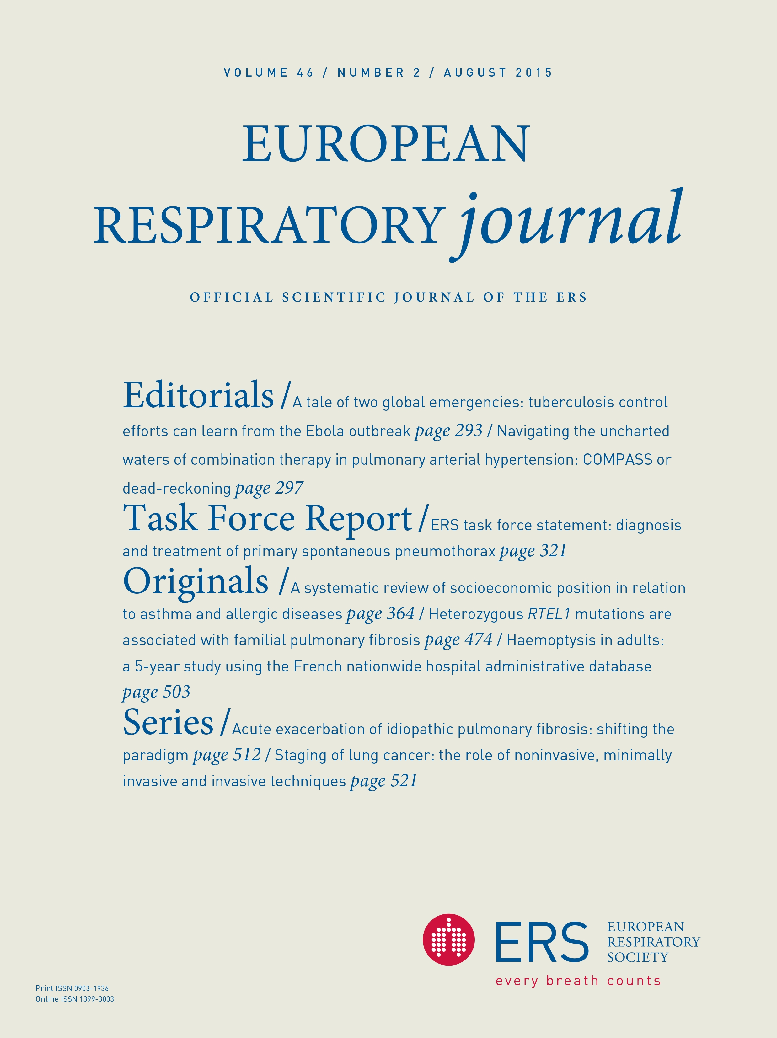 Staging of lung cancer: the role of noninvasive, minimally invasive and  invasive techniques | European Respiratory Society