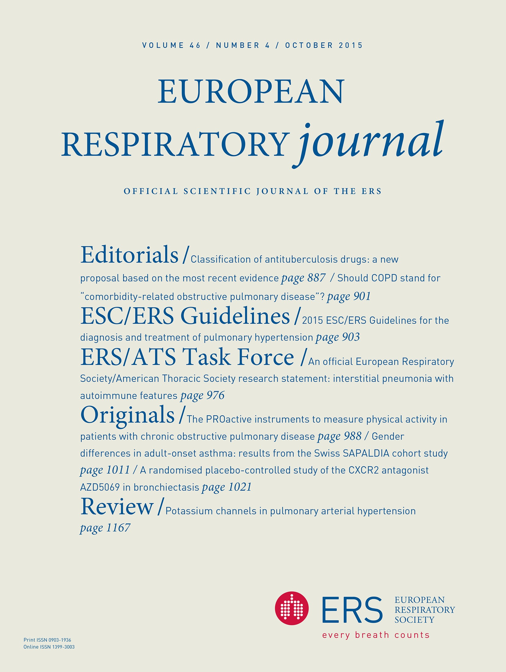 2015 ESC ERS Guidelines For The Diagnosis And Treatment Of Pulmonary Hypertension