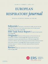 European Respiratory Journal: 39 (4)