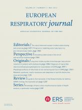 European Respiratory Journal: 39 (5)
