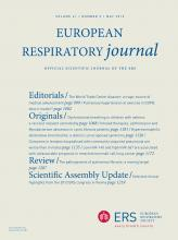 European Respiratory Journal: 41 (5)