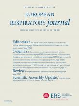 European Respiratory Journal: 41 (5)