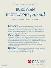 European Respiratory Journal: 42 (3)