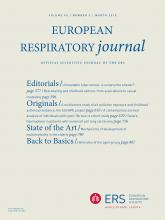 European Respiratory Journal: 45 (3)