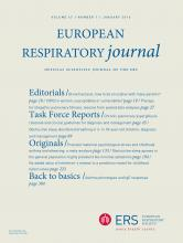 European Respiratory Journal: 47 (1)