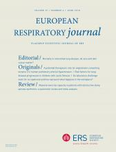 European Respiratory Journal: 51 (6)