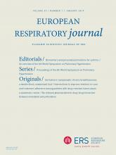 European Respiratory Journal: 53 (1)