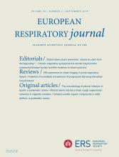 European Respiratory Journal: 54 (3)