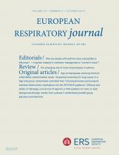 European Respiratory Journal: 54 (4)