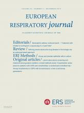 European Respiratory Journal: 54 (5)