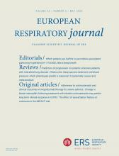 European Respiratory Journal: 55 (5)