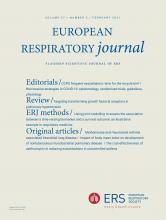 European Respiratory Journal: 57 (2)