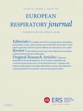 European Respiratory Journal: 58 (2)